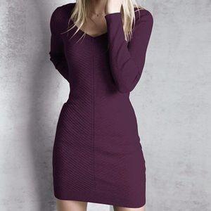 Victoria's Secret Purple Sweater Dress V-Neck